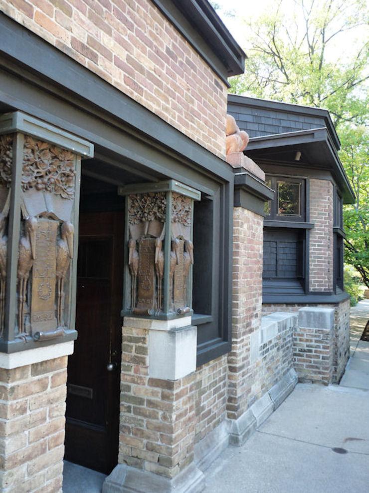 Casa-Estudio de F. Ll. Wright - acceso al estudio